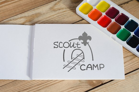 Emblem (logo) Scout camp in Graphics