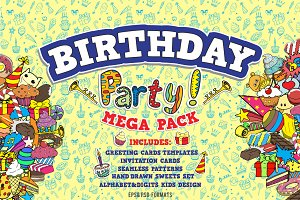 Birthday party MEGA PACK!