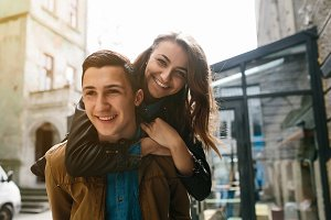 beautiful young couple