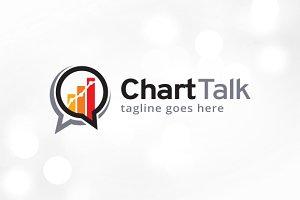 Chart Talk Logo Template