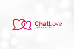 Chat Love Logo Template