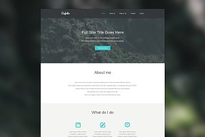 Dafolio | PSD Template for Creatives