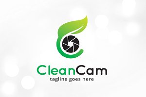 Clean Camera Letter C Logo Template