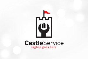 Castle Service Logo Template
