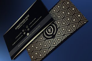 Gold and Black business card #41