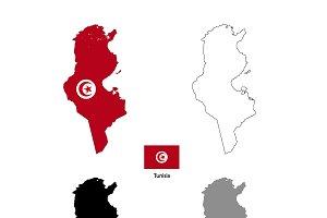 Tunisia country silhouettes