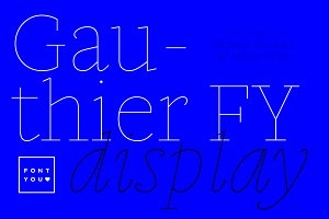 Gauthier Display FY Family (2 fonts)