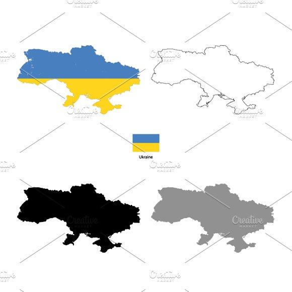 Ukraine country silhouettes