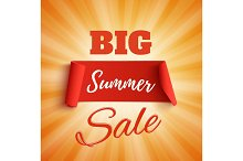 Big summer sale poster.