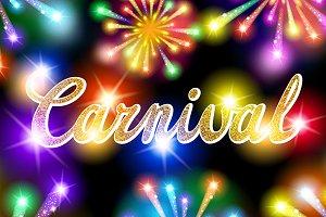 lettering carnival fireworks color