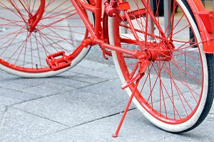 Red bicycle detail
