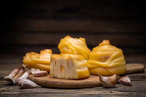 Twisted handicraft cheese