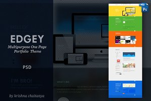 EDGY | Multipurpose One Page PSD