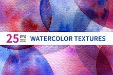 25 Watercolor Textures