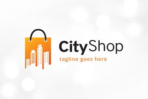 City Shop Logo Template