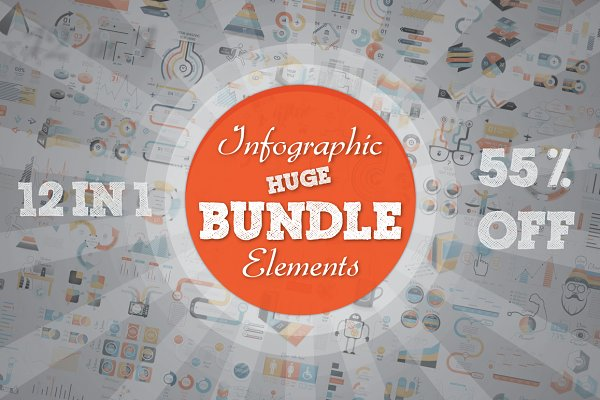 55% OFF Infographic Bundle