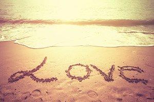 LOVE on the beach.