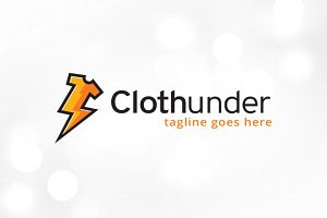 Cloth Thunder Logo Template