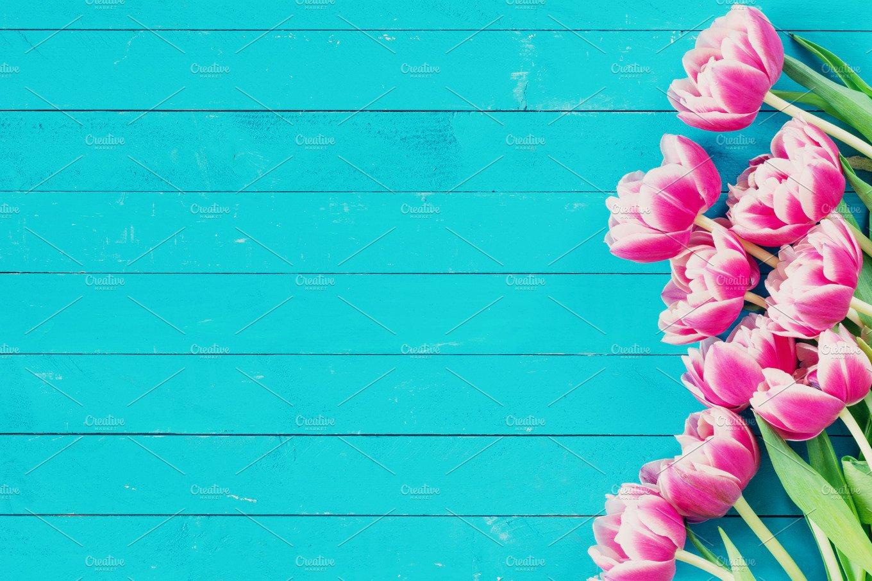 Peony Tulips Vintage Background Abstract Photos Creative Market