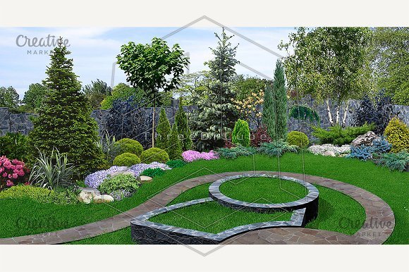 Backyard planting of greenery