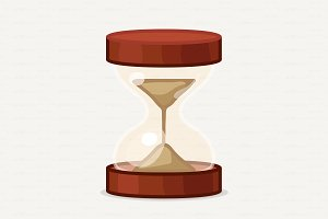 ♥ vector Cartoon hourglass