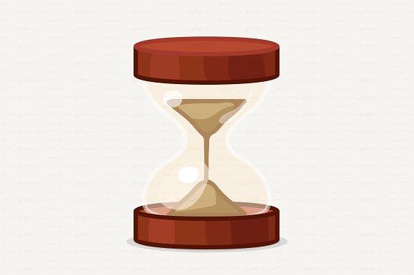 vector Cartoon hourglass