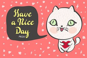 baby cat. Have a nice day vector