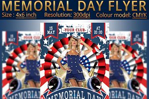 Memorial Day Patriotic Flyer