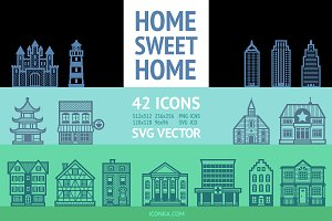 HomeSweetHome Icon Set