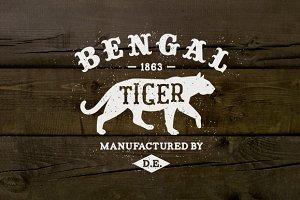Vintage Label Bengal Tiger