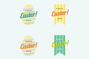Happy Easter Vector Template