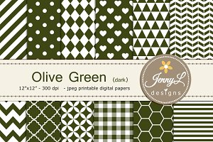 Olive Green Digital Paper