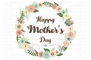 Happy Mother's Day Wreath Floral