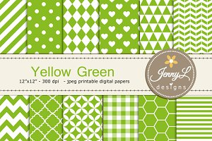 Yellow Green Digital Paper