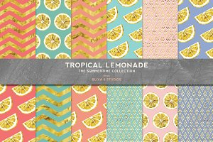Tropical Lemonade: Summery Gold Foil