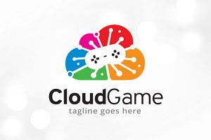 Cloud Game Logo Template