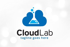Cloud Lab Logo Template