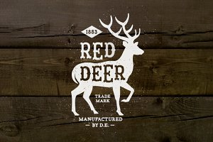 Vintage Label Red Deer