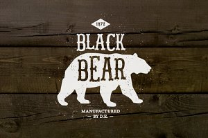 Vintage Label Black Bear