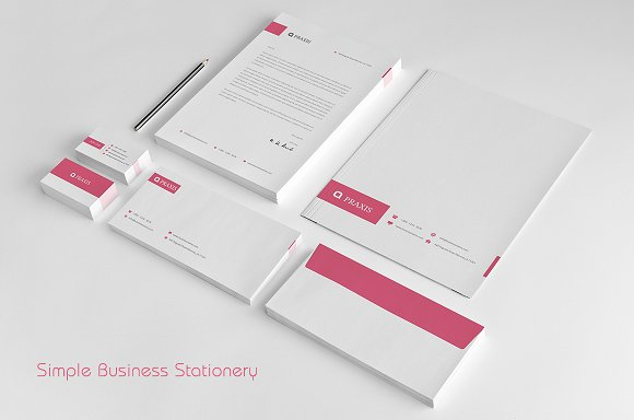 simple business stationery stationery templates creative market