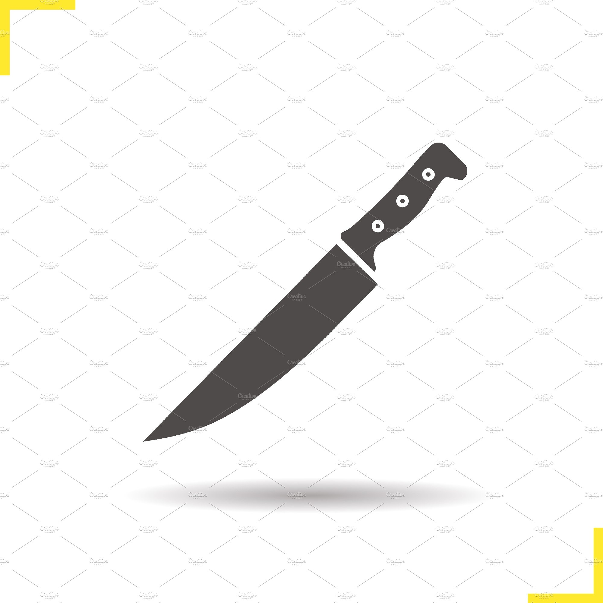 chef 39 s knife icon vector icons creative market. Black Bedroom Furniture Sets. Home Design Ideas