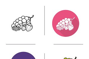 Berries icons. Vector