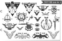 20 in 1 Tattoo design elements