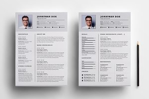 Professional two page resume set