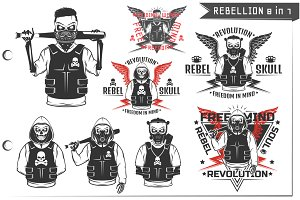 8 in 1 Rebellion for T Shirt