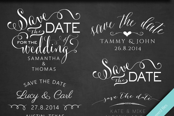 Save the Date - Photo Overlays