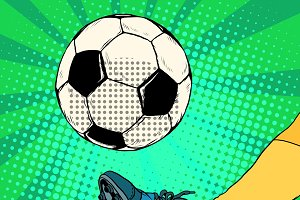 Kick a soccer ball