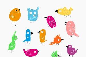 Color Birds set