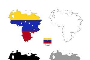 Venezuela country silhouettes