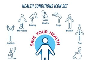 Health conditions icons